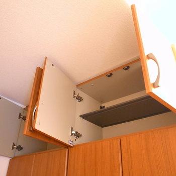 天井部には靴の他、アウトドア洋品や防災用品の収納もいいですね。