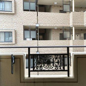 眺望はマンション。通りを挟んでいて少し距離はあります。