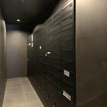 メール・宅配ボックスコーナー。
