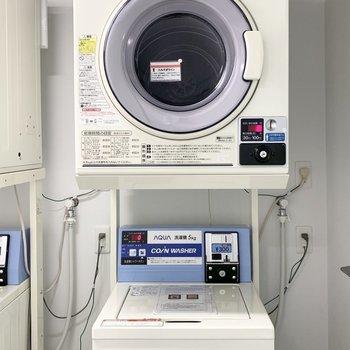 【共用部】洗濯+乾燥もこちらで完結できるのが嬉しい。