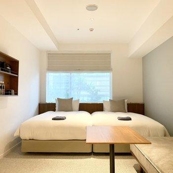 お二人でのご宿泊も可能です。※名様ご宿泊の場合は10000円(税別)追加費用