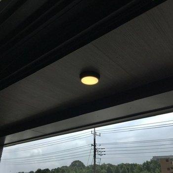 あ、バルコニーにもライトが。素敵。※写真は前回募集時のものです