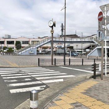 東海大学前駅周辺です。
