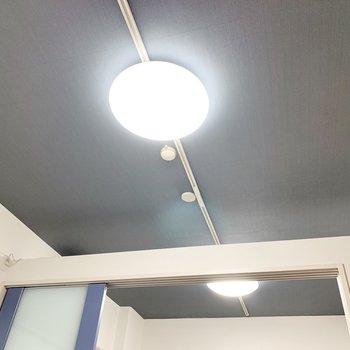 ラインティングレール付きで好きな位置に好きな照明を付けれますよ◎