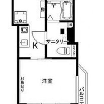 ダイニングと寝室を分けられる2K。