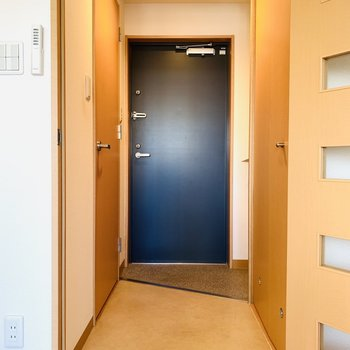 その他の水回りは玄関スペースに。