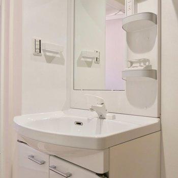 洗面台も大きい(※写真は2階同間取り別部屋のものです)