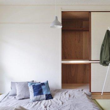 こちらにも収納スペースが。大容量なので、衣類などは全て収納できそうです。