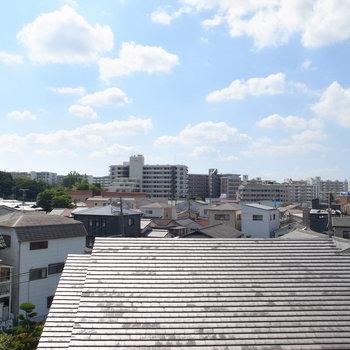 眺望もすてき!この日は、絵に描いたような空でした。