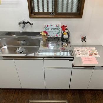 キッチンはシンクが広めで使いやすい作り。