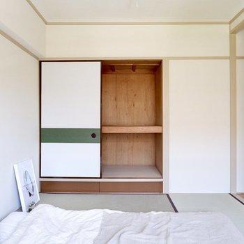 【和室6帖】お布団は収納に仕舞っておくことが可能です。