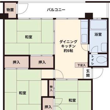 和室が3部屋ですが、洋家具もよく合いますよ。※反転タイプあり