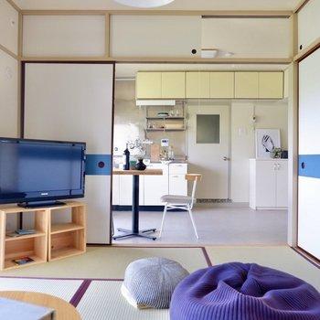 【和室6帖】ビーズクッションなど置いて、床に寝転がるのも気持ち良いですね。