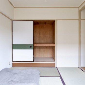 またまた収納スペース。持ち物がたっくさんある方も安心の設備です。