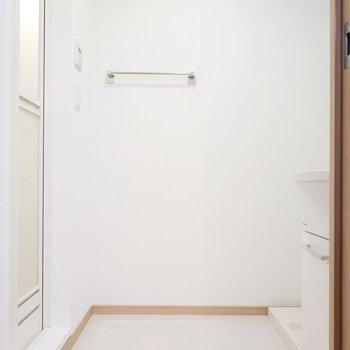 サニタリールームは広々としたスペースがあります。※写真は2階の同間取り別部屋のものです
