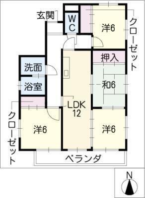 徳川パークサイドマンションB棟 の間取り