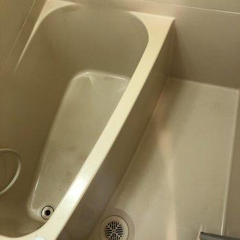 お風呂は狭いかも……。お掃除は楽ですね。