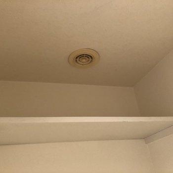 上部棚に予備のトイレットペーパーが置けますね。