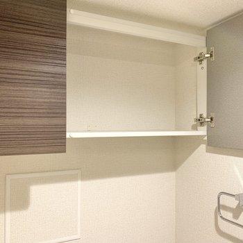 棚にはトイレットペーパーや掃除用具が入りそう。※写真は前回募集時のものです