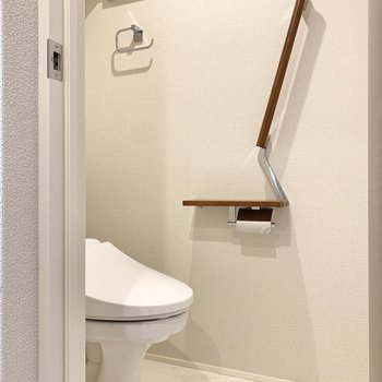 トイレも温水洗浄機能付きで嬉しいですね。※写真は前回募集時のものです