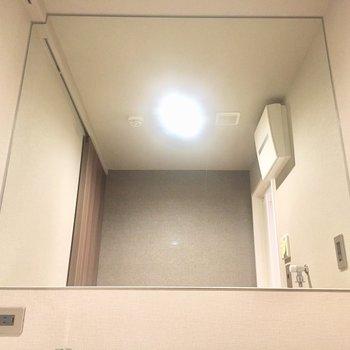 大きな鏡!
