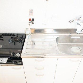 洗い物がしやすそうな大きめのシンク。