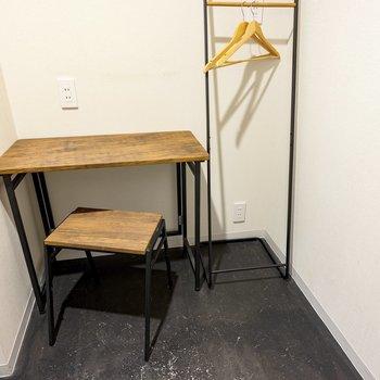 居室内にデスクもあるので、軽い作業も問題なくできそう。