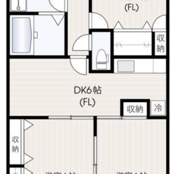 ゆったり住める3DKのお部屋です。