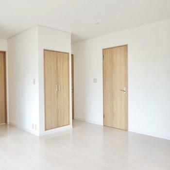 LDKは全てのお部屋に繋がっています。