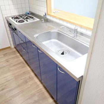 シンクもゆったりで洗い物がしやすい!