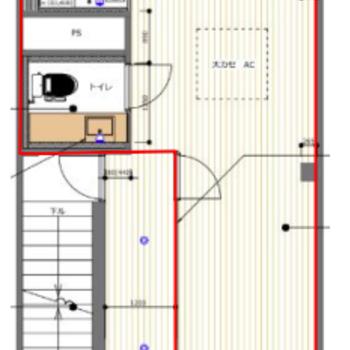 【4F平面図】オークの無垢床フロアで「暮らすように働く」