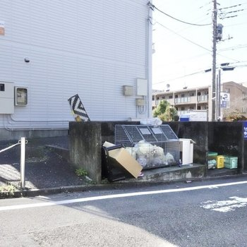 A棟の側にゴミ置き場があります。