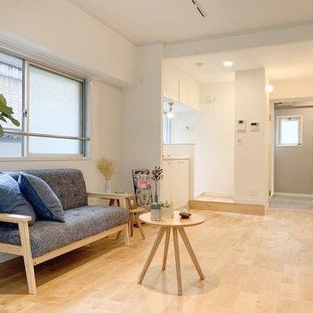 キッチンは壁付けなので、家具の配置もしやすいですね!