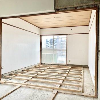 【工事中】このあと壁も天井も白くなりますよ