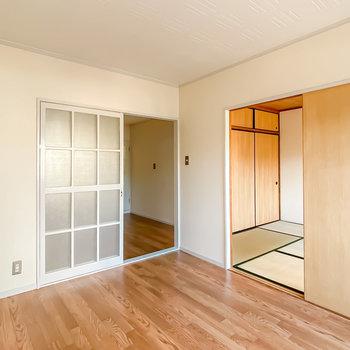 3つのお部屋は相互に繋がりあっています。