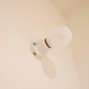 照明は丸みのあるキュートな電球。
