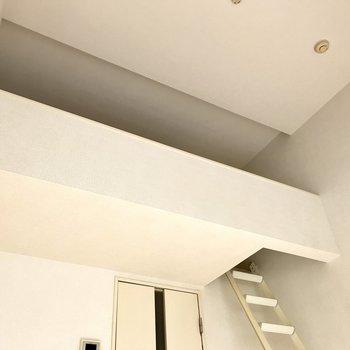 この天井高!だから圧迫感を感じないんだろうなぁ。(※写真は1階の反転間取り別部屋のものです)