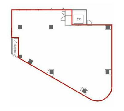 六本木 46坪 オフィス の間取り