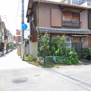 【共用部】昔ながらの家々と、新しい戸建てが混じって並んでいます。ホッとする雰囲気。