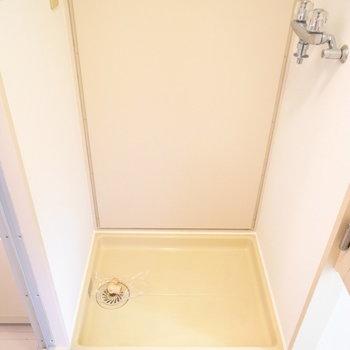 浴室を出てすぐ左に洗濯パンです。