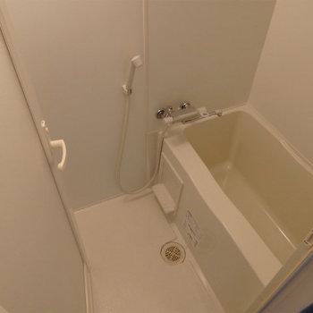 お風呂は少し狭いです。※写真は8階同間取り・別部屋のものです。