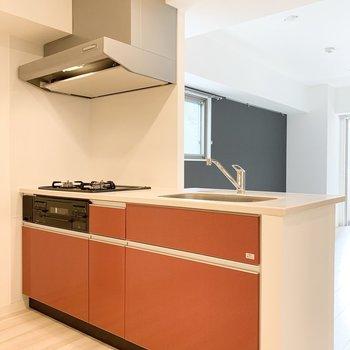 【LDK】オレンジのポップなキッチン!