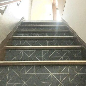 階段の模様も可愛い