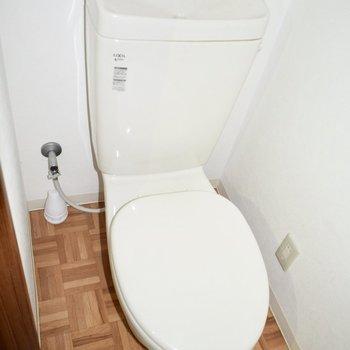 トイレはシンプルで清潔感があります!