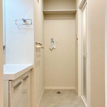 脱衣室も使いやすい広さでした。