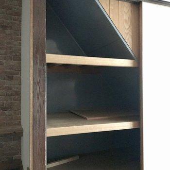 【1F洋室4.5帖】階段下に押入れがあります。