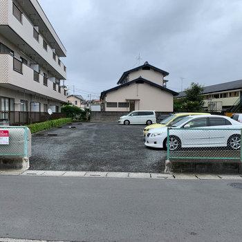 駐車場もしっかりと