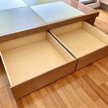 【ディティール】畳スペースは収納付き。部屋着など収納しておくと、さっと着替えられて便利かも。