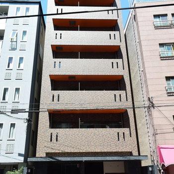 タイル張りのマンション