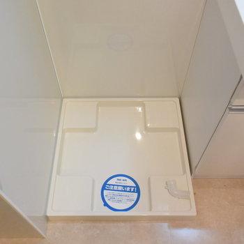 洗濯機は洗面台の横に置きましょう※写真は4階の同間取りのもの